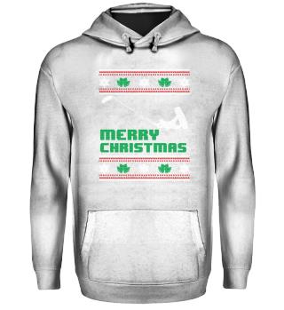 Funny Kitsurfing Shirt Merry Christmas