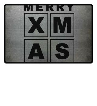 Stylish Square Frame - XMAS - black