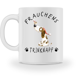 Frauchens Trinknapf Hund Weihnachten