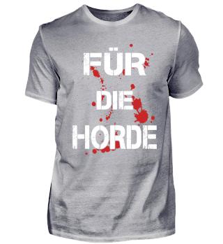 Für die Horde Ork RPG Shirt