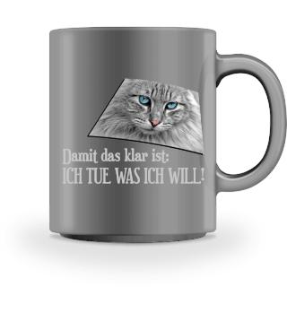 Katze - I Tue Was Ich Will - grau