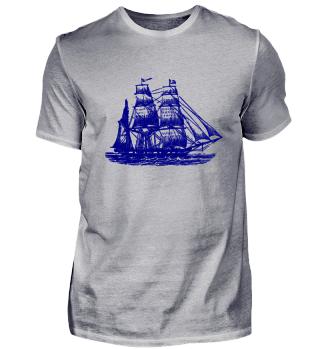 Blaues Schiff.