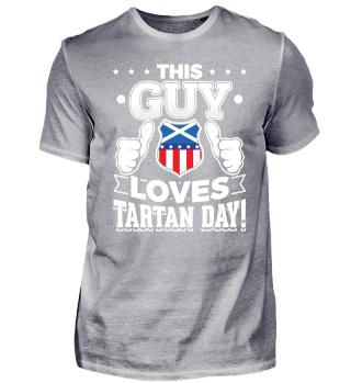 This guy loves Tartan day!
