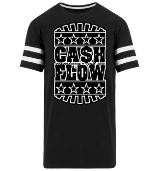 Herren Kurzarm T-Shirt Cash Flow BW Striped Ramirez