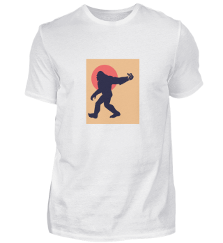 Bigfoot Stinky Finger Sasquatch Retro Ha