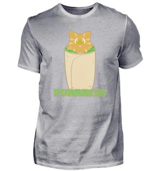 Funny Purrrito Cat Shirt Gift Idea