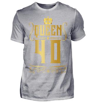 40. Geburtstag 40 Jahre Queen Königin