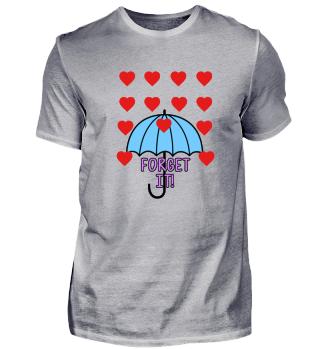 Forget it! Regenschirm Anti Valentinstag