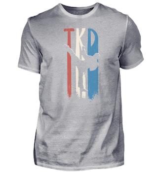 TKD Side-Kick Silhouette Retro Taekwondo