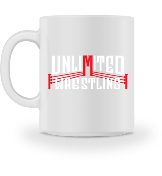 Unlimited Wrestling Logo Tasse