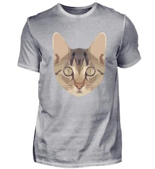Ein süßer Polygon Katzen Kopf