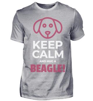 Keep Calm And Hug A Beagle