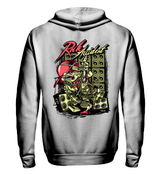 Herren Zip Hoodie Sweatshirt Rock Ramirez