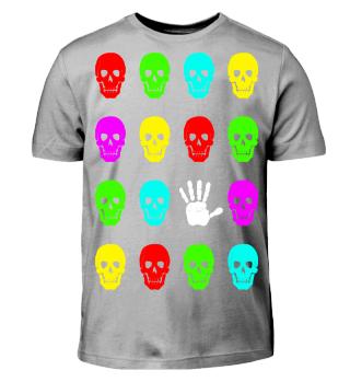 Totenkopf Gruppe Hand - Grelle Farben I
