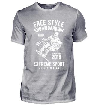 Freestyle Snowboarding extreme sport