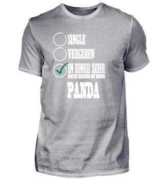 In einer Beziehung mit meinem Panda Single Solo T-Shirt Shirt