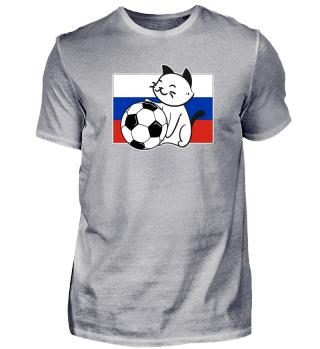 Russia soccer cat