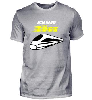 Eisenbahn - Ich mag Züge - T-Shirt