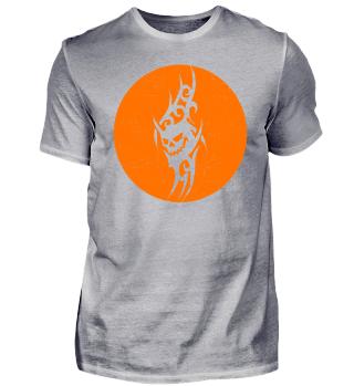 Halloween Devil Tribal Tattoo - orange
