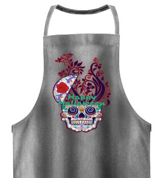 Happy Halloween Floral Sugar Skull