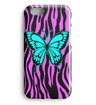 ♥ Butterfly On Zebra Stripes I Case