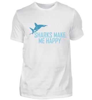 Shirt Sharks Happy Taucher Tauchen Dive