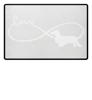 Infinity Love Long Hair Dachshund white1
