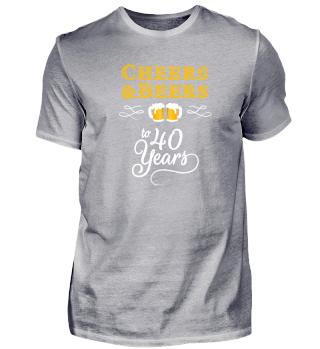 T Shirt 40 Geburtstag Männer Geschenk
