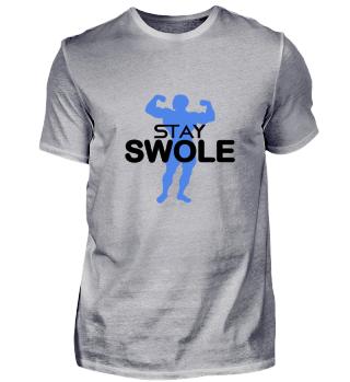 Fitness Gift Train Shirt Gym Swole Tee W