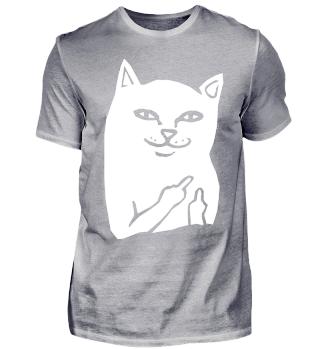FU Katze | F*ck Dich Katze | Witzige Katzen Silhouette | Katzenliebhaber