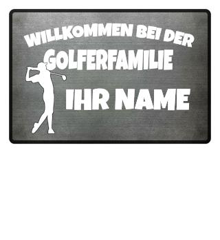 Golfer Familie Golf Persönlich Geschenk