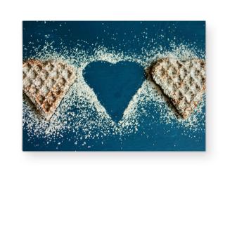 ★ Photo - Waffle Hearts - blue I