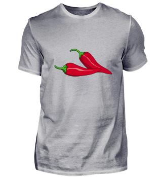 Gemüse Chili Motiv rot vegetables