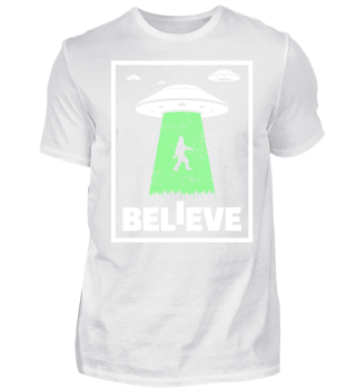 Sasquatch Ufo Gift Funny Bigfoot Space