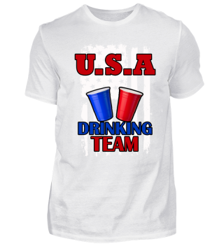 USA Drinking Team Beer Pong Partyshirt