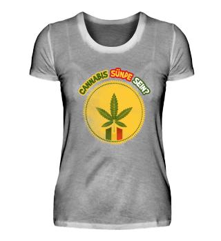 Cannabis Sünde sein- Shirts, Damen