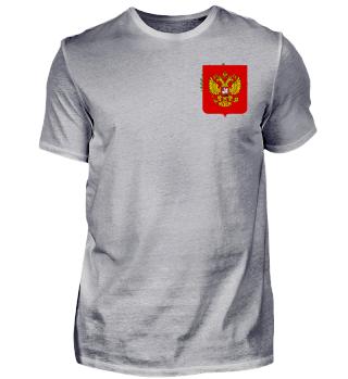 Freizeit Shirt Wappen Russland