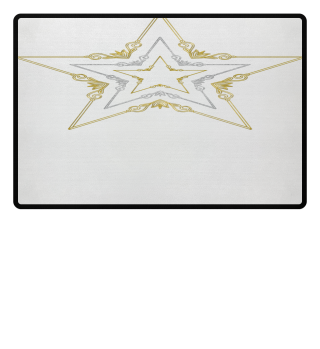 ♥ Vintage Stars Trio - gold silver