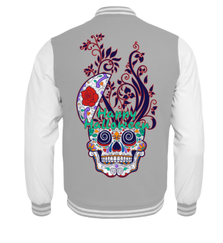 Happy Halloween Floral Sugar Skull