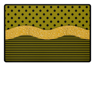 Golden Snake Line Stripes Dots
