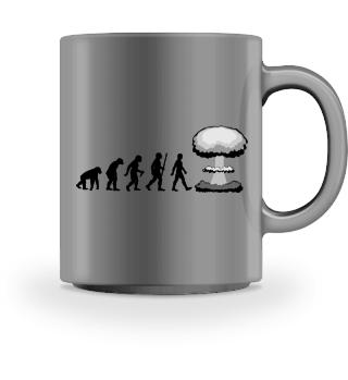 Evolution Of Humans - mushroom cloud I
