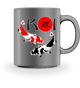 KOI - Nishikigoi Bekko white red black 2