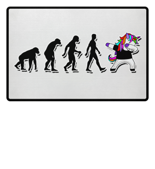 Evolution Of Humans - Dabbing Unicorn 3a