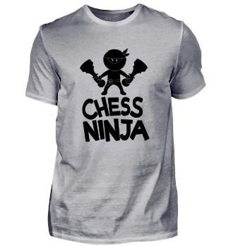 Chess Ninja Schach Spieler Spielerin Club Nerd Geek Comic Cool Lustig Spruch Geschenk