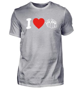 Ich liebe love bowlerin geschenk geburtstag liebe