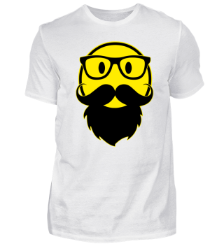Funny Cult Smiley - Hipster Brille Bart