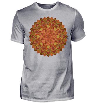 ♥ Sri Yantra Mandala - orange olive