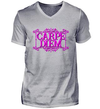 CARPE DIEM - vintage frame pink T-Shirt
