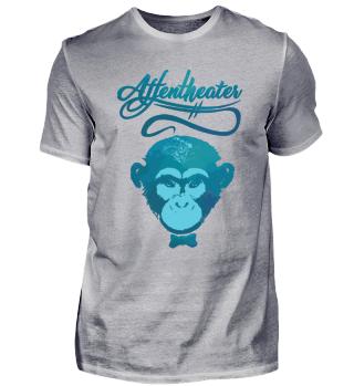 Affe Schimpanse Geschenk Spruch Zoo