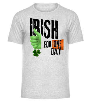Irish For One Day - Hand Flag Shamrock